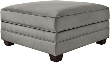 Benchcraft   Bicknell Contemporary Storage Ottoman   Charcoal