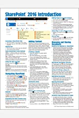 Microsoft SharePoint 2016 Introduction Quick Reference Guide - Windows Version (Cheat Sheet of Instructions & Tips - Laminated Card) Pamphlet
