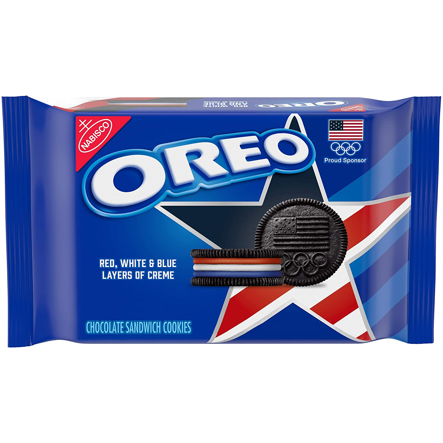 Team USA OREO Chocolate Sandwich Cookies, Limited Edition, 1 Pack (13.2 oz.)
