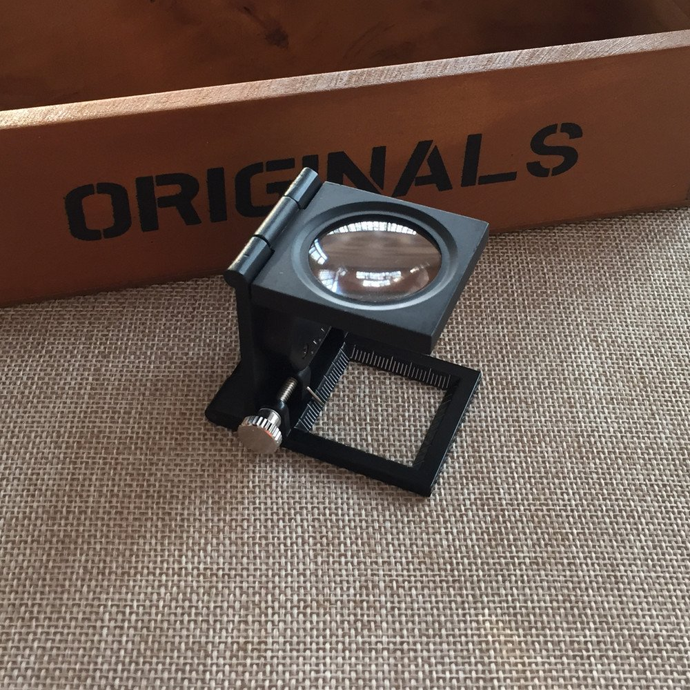 VSONE /Ø 28mm Lente Ingrandimento Contafili Piegabile10X In Metallo Con 2 Luci a LED