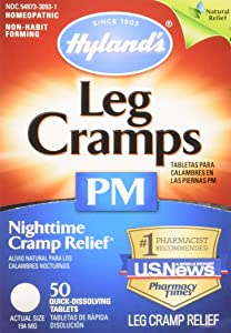 Hyland's Leg Cramps PM Tablets 50 ea (Pack of 2)