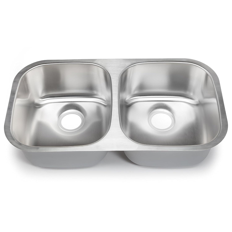 BJCCC hahn kitchen sinks Hahn Chef Series SS 32 Inch Undermount 50 50 Double Bowl Amazon com