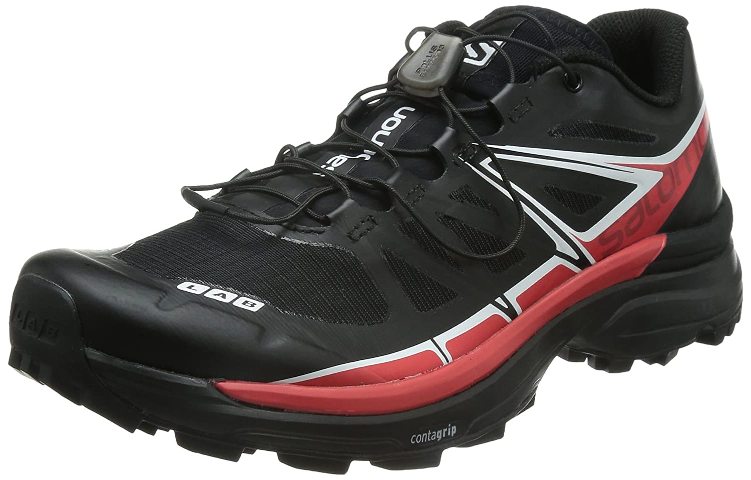 [サロモン] SALOMON トレイルランニングシューズ S-LAB WINGS SG B00PRU528I 27.5 cm BLACK/RACING RED/White