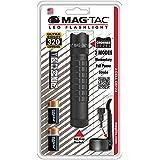 Maglite Mag-Tac LED 2-Cell CR123 Flashlight - Crowned-Bezel, Matte Black