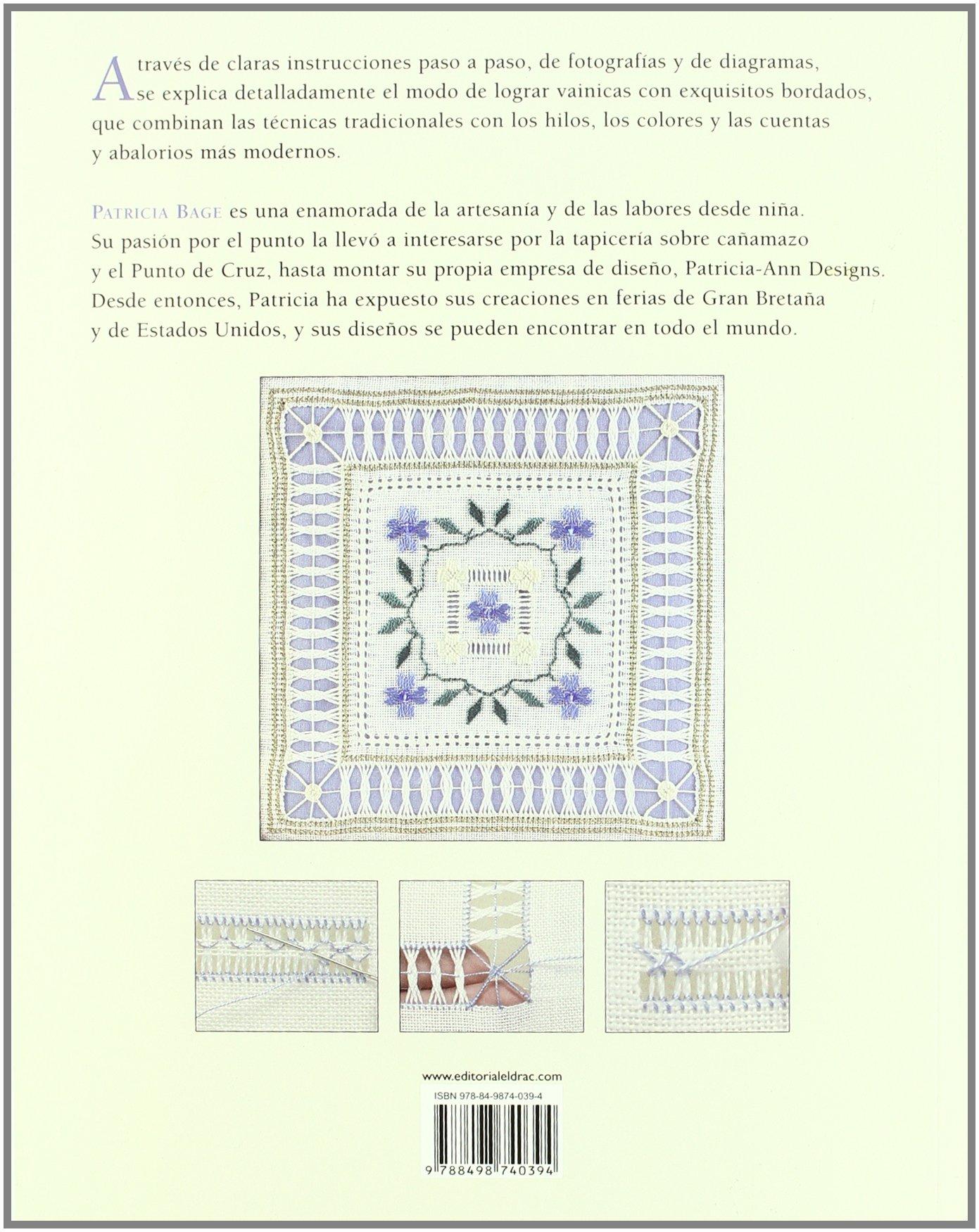 Vainicas : bordados con hilos de colores y cuentas: Patricia Bage: 9788498740394: Amazon.com: Books