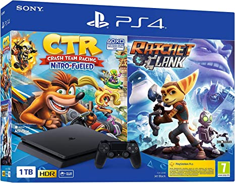 Sony PlayStation 4 - PS4 1TB + Crash Team Racing + Ratchet & Clank: Sony: Amazon.es: Videojuegos