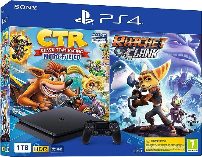 Sony PlayStation 4 - PS4 1TB + Crash Team Racing + Ratchet & Clank: Sony: Amazon.es: Videojuegos