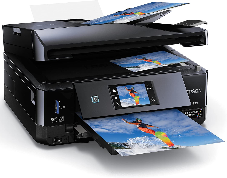 Epson XP-830 Wireless Color Photo Printer with Scanner 1 Dash Replenishment Ready Copier /& Fax C11CE78201
