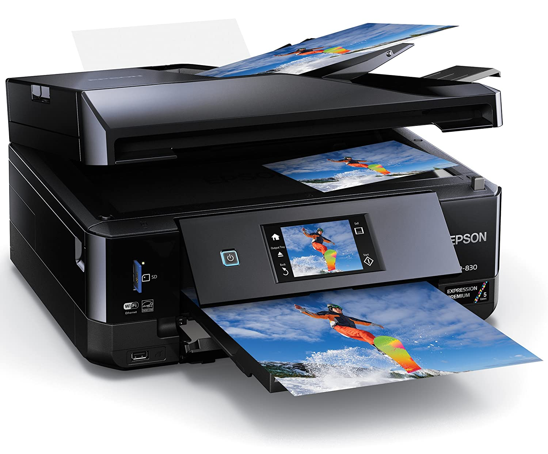 amazon com epson xp 830 wireless color photo printer with scanner