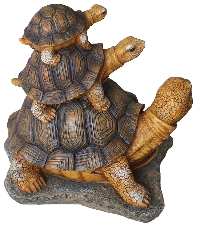 Amazon.com : TIAAN Turtle Family Statues : Garden & Outdoor