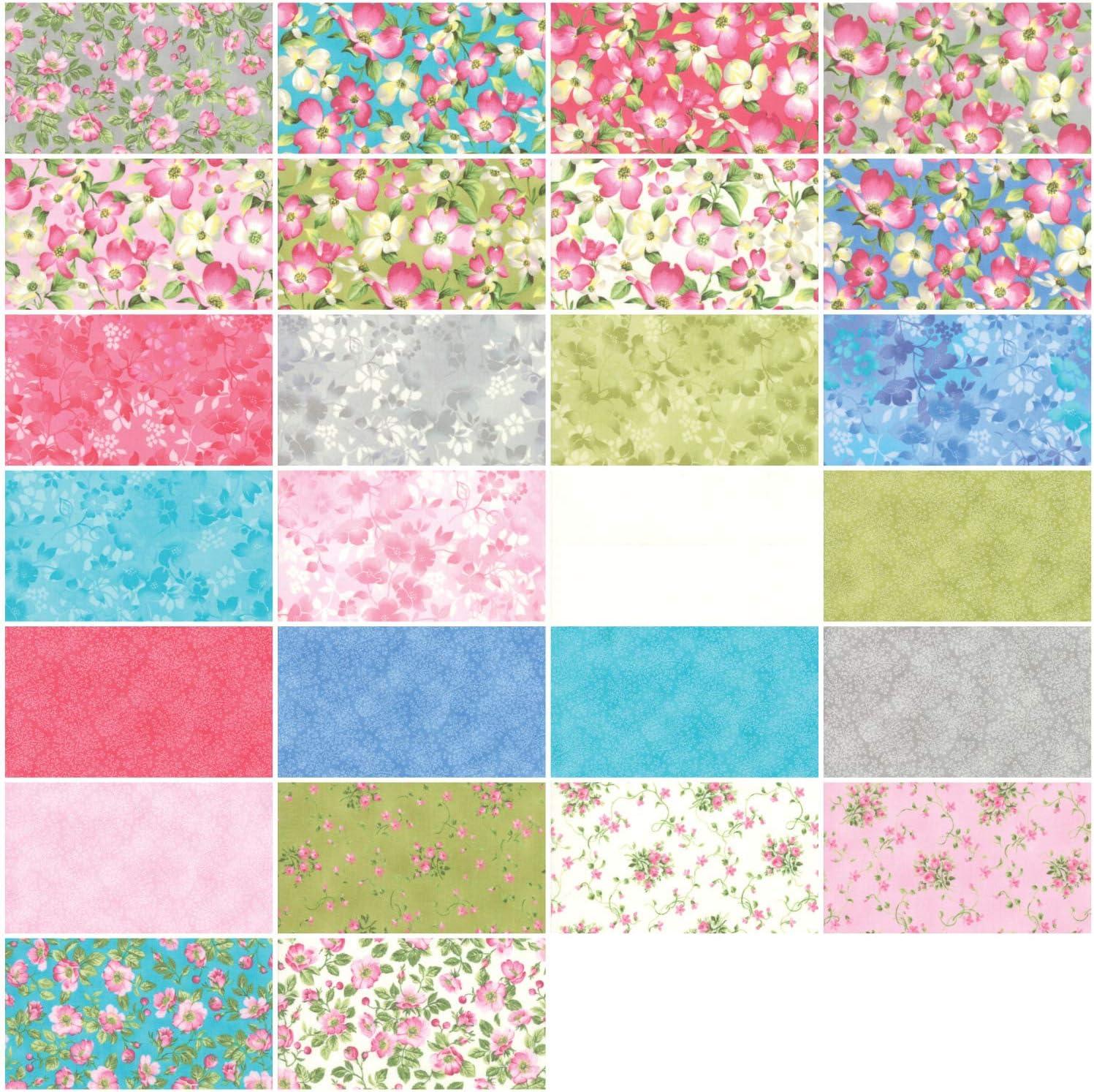 Sakura Park Charm Pack by Moda; 42-5 Inch Precut Fabric Quilt Squares