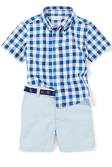 01ab6c71 Amazon.com: Ralph Lauren Baby Boys Plaid Shirt & Oxford ...