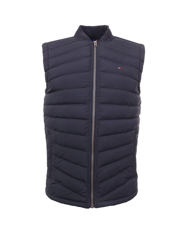 TALLA XS. Tommy Jeans Hombre Basic Light Down Vest 12 Chaleco Sin mangas Abrigo de plumas