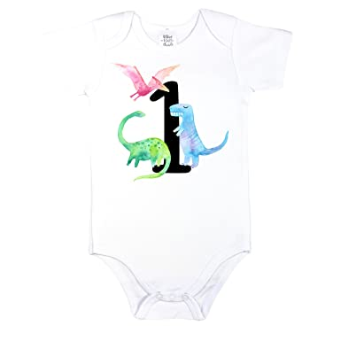 Olive Loves Apple Dinosaur 1st Birthday Outfit Boys Shirt Bodysuit Theme