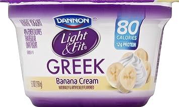 Exceptional DANNON Light U0026 Fit Banana Cream Greek Yogurt, ...