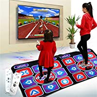 Dance Mat for Kids Adults,Lavany Non-Slip Somatosensory Soft Dancer Step Pads with Music,Multi-Function Games & Levels, Plug and Play, Sense Game for PC TV for 2 Person