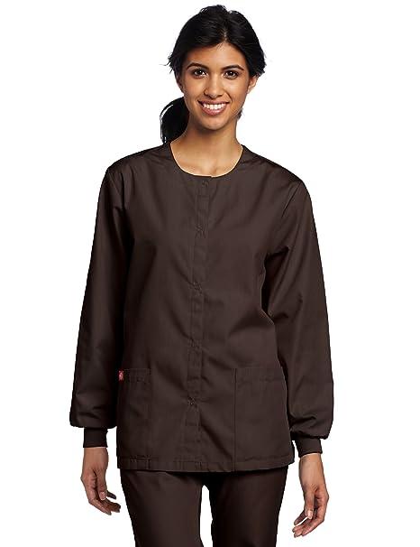 d62bc89db90 Amazon.com: Dickies Scrubs Women's Warm Up Jacket: Medical Scrubs ...