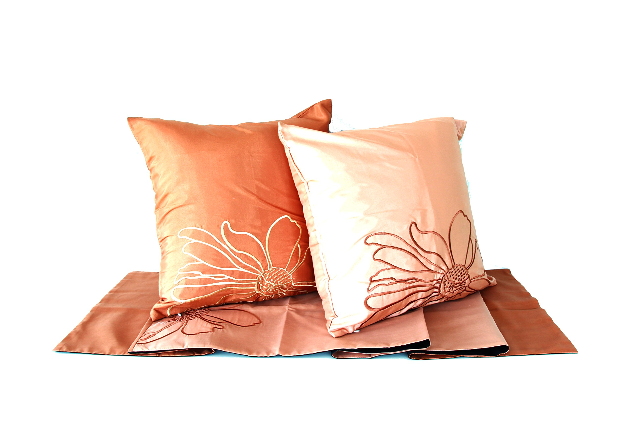 Lotus House Floral Collection Set - Shades of Brown (Bedroom - 3 Piece)