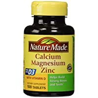 Nature Made Calcium Magnesium & Zinc Tabs, 100 ct