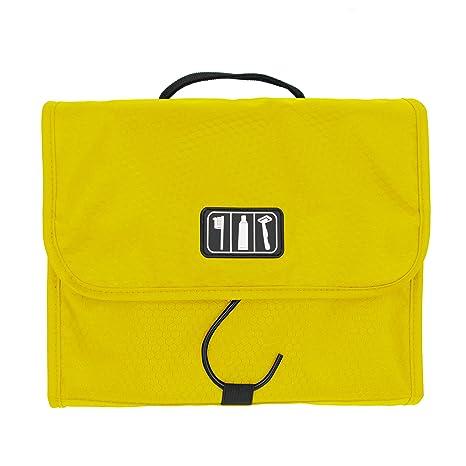 30262ea02 Ezigoo Neceser de Viaje Diseño Desplegable – Bolsa de Aseo Colgante  Amarilla con Gancho de Acero