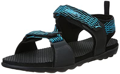 3cc54f14a ... spain puma mens spectra ipd puma black dark shadow and blue atoll  athletic outdoor sandals 82b46
