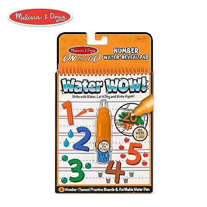 Amazon.com: Melissa & Doug On the Go Water Wow! Numbers Activity Pad ...