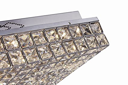Glighone plafonnier cristal spot led moderne 4 e27 design rond