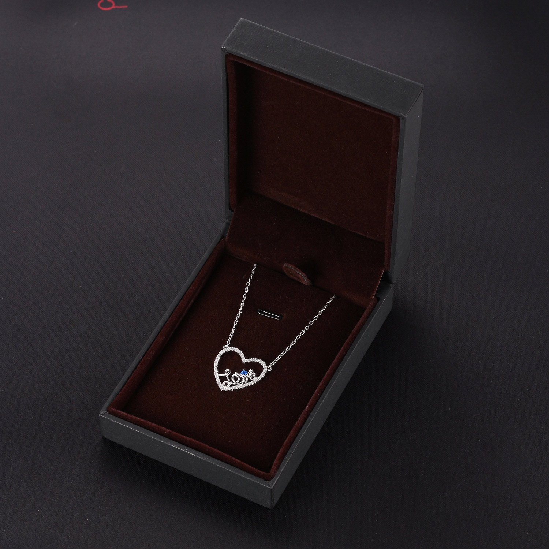 Caperci Sterling Silver Love Open Heart Pendant Necklace Women Girls, 18'' by Caperci (Image #5)