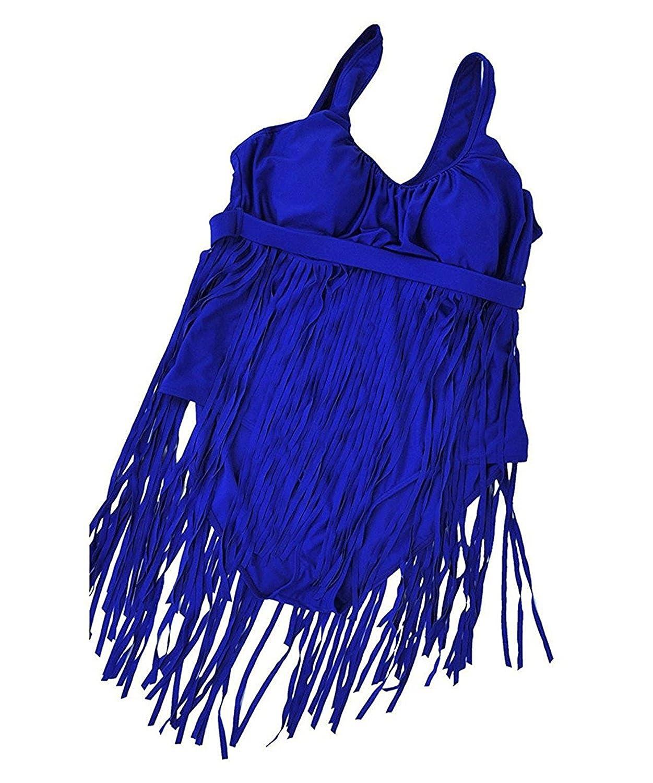 Zlove SWIMWEAR レディース B07CK92B63 ブルー Large