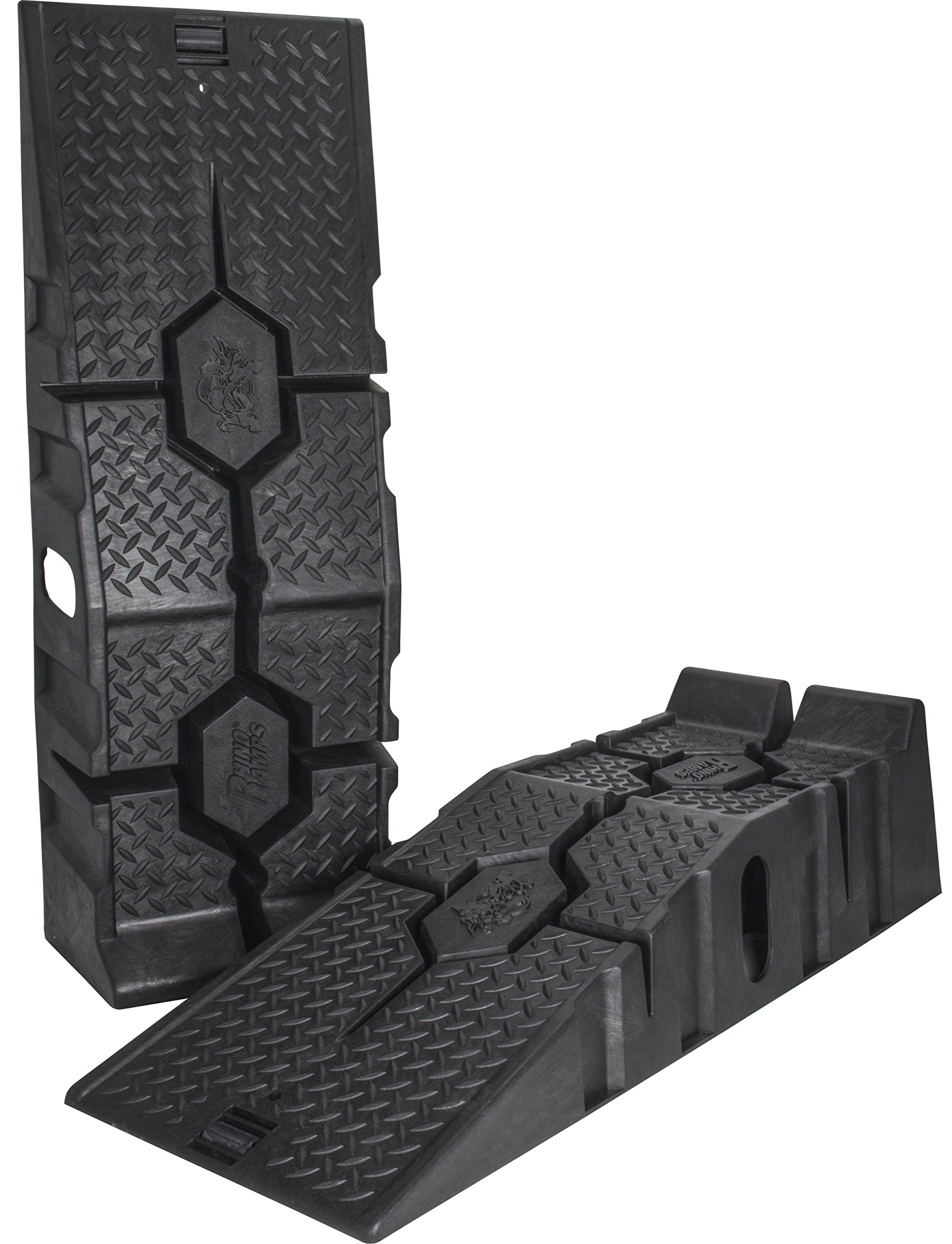 RhinoGear 11912 RhinoRamps MAX Vehicle Ramps - Set of 2 (16,000lb. GVW Capacity) by RhinoGear