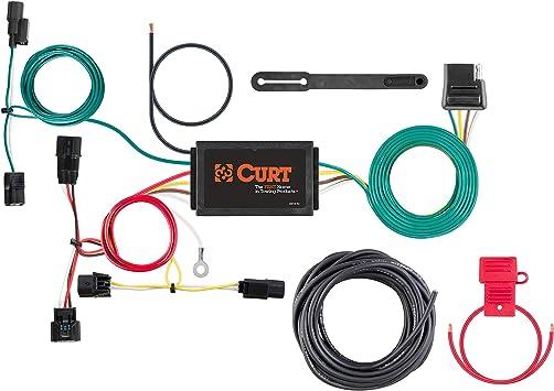 honda fit wiring amazon com curt 56395 vehicle side custom 4 pin trailer wiring  amazon com curt 56395 vehicle side