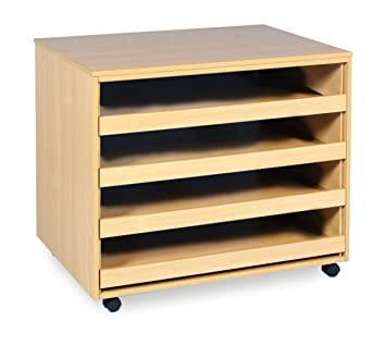 Monarch Education Furniture 4 Schublade A1 Papier Aufbewahrung