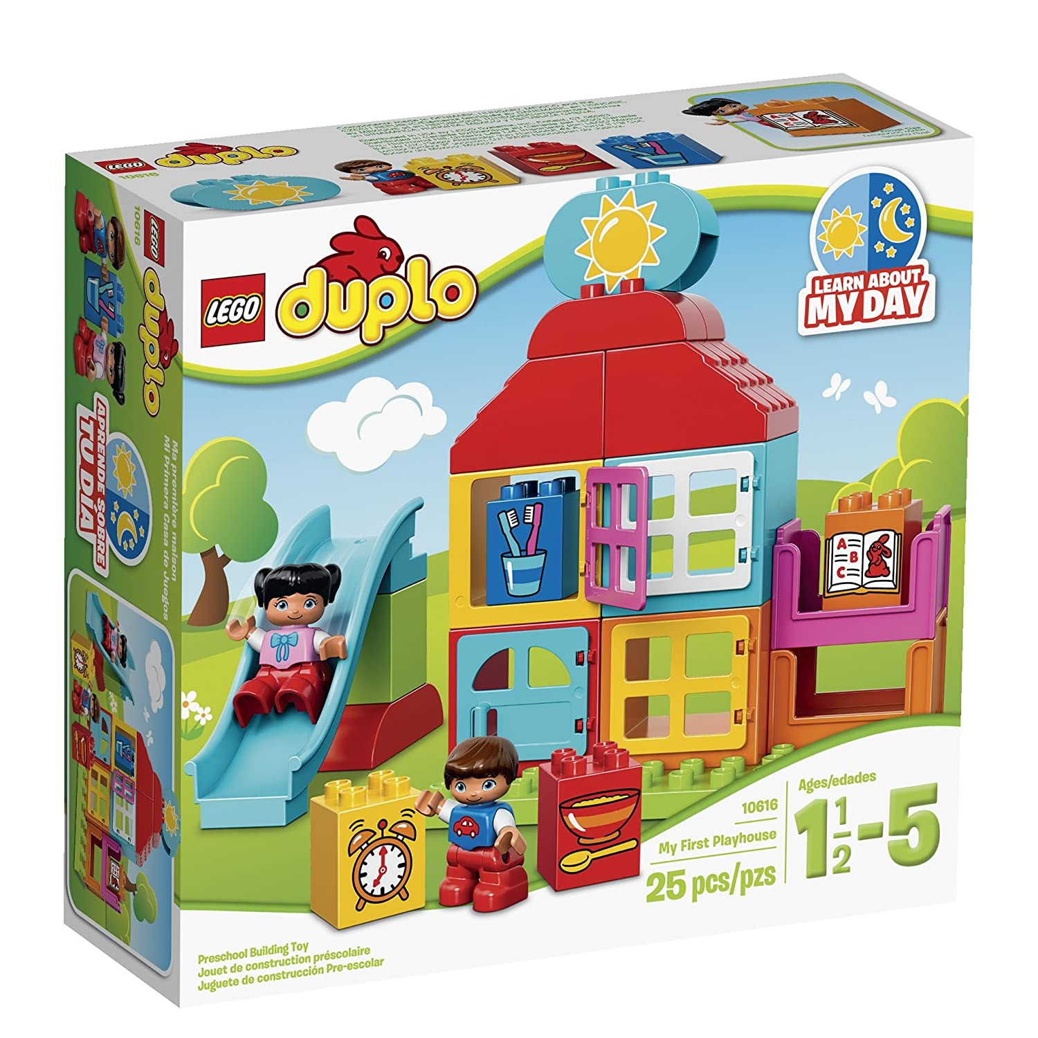 Amazoncom Lego Duplo My First Playhouse 10616 Toy For 1 Year Old