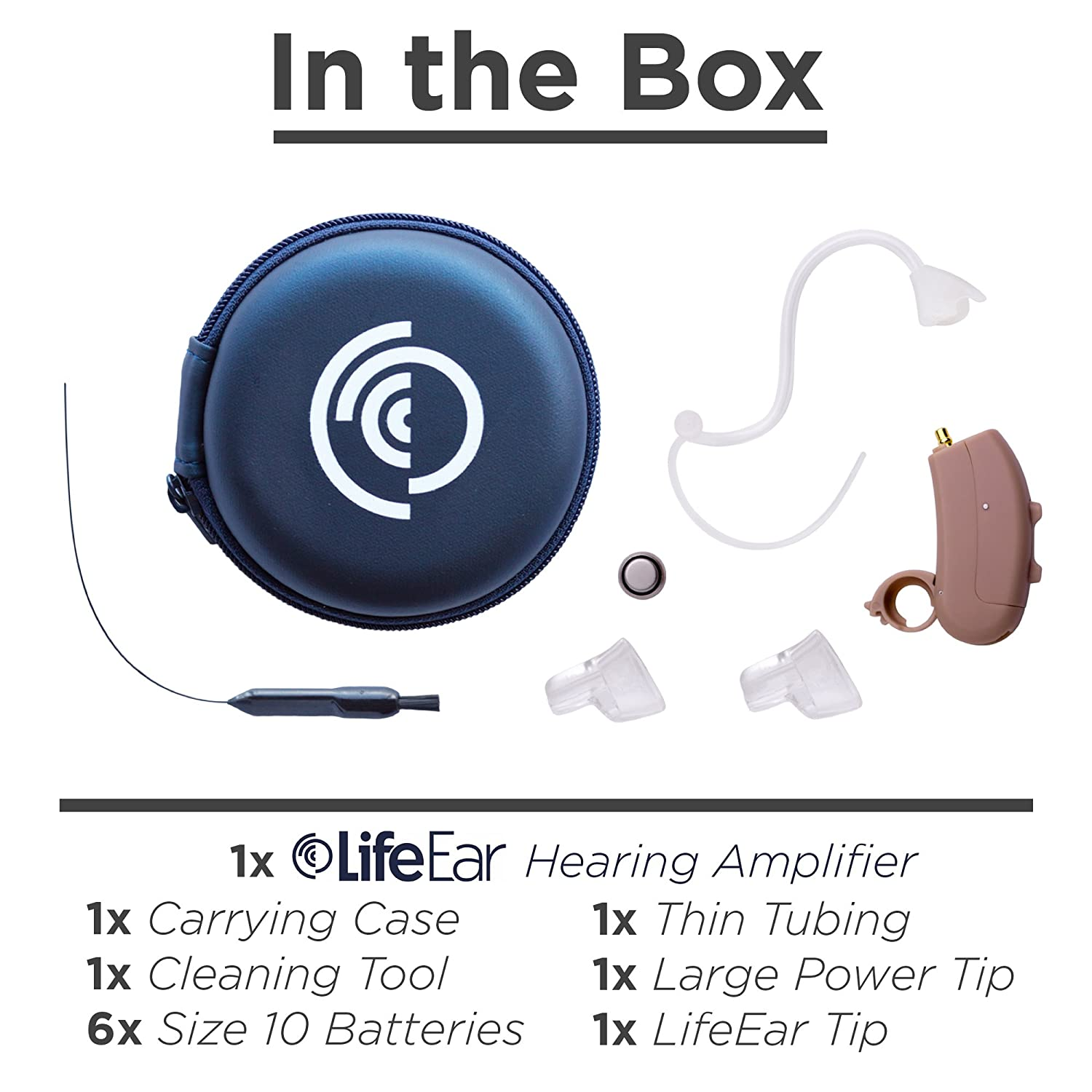 Empower Hearing Amplifier Digital Noise Reduction Living Aids Amplifiers Accessories Feedback Cancellation Enhances Speech 4 Program Nearly Invisible Behind The Ear 12 Channel Device