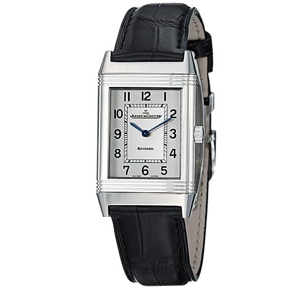 87c940a4e51d0 Jaeger-Lecoultre Reverso Classique Quartz Ladies Black Leather Strap Watch  2518412  Jaeger-LeCoultre  Amazon.ca  Watches