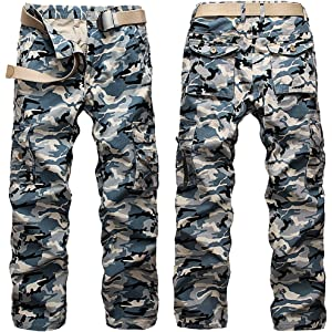 Aubig Mens Cotton Outdoor Desert Camouflage Pants Cargo Pants ...