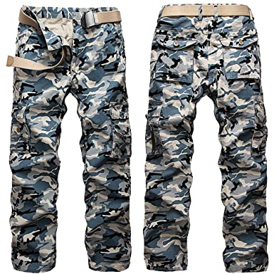 Amazon.com: Camo Cargo Pants Relaxed Fit for Men Military Army ...