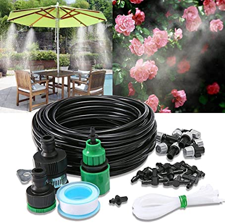 Outdoor Misting Water Cooling System Garden Irrigation Mister Nozzles Set