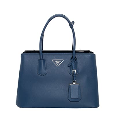 Amazon.com  Prada Women s Saffiano Tote Navy  Shoes fa3898f676acf