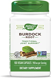 Nature's Way Burdock Root, 950 mg per serving, 100 Capsules (Packaging May Vary)