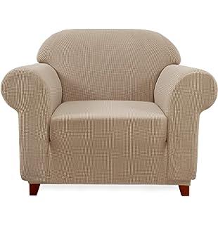 TIANSHU Funda de sillón,Material Jacquard poliéster y ...