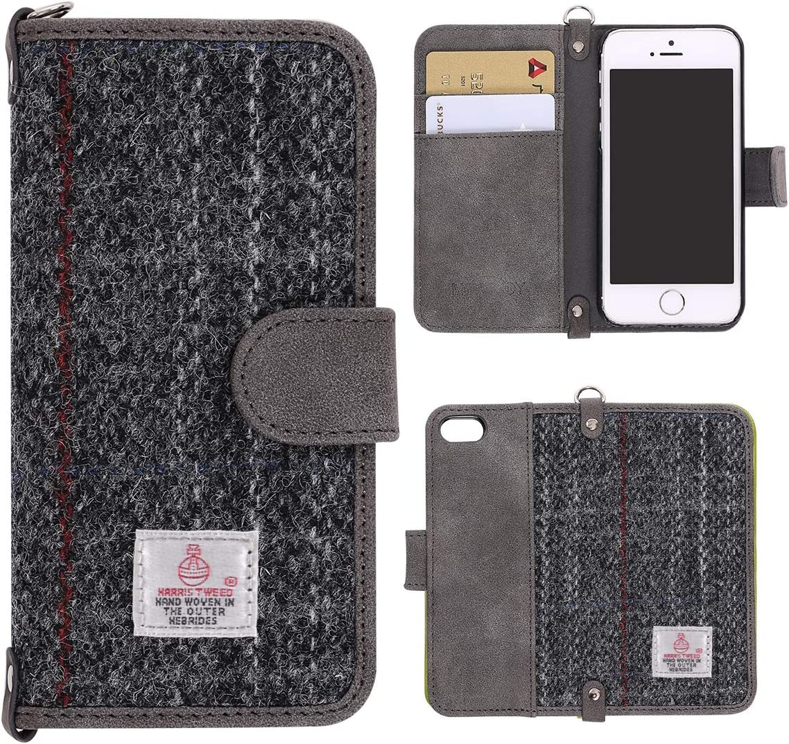 iPhone 6/7/8 Plus Fabric And Leather Back Cover (Light Grey