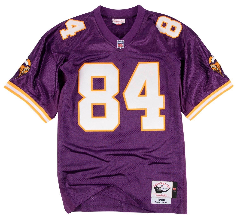 Mitchell   Ness Randy Moss Minnesota Vikings Authentic 1998 Purple NFL  Jersey e6213a431