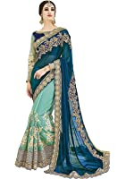 Sareeshop Georgette Saree With Blouse Piece (_Multi_Free Size)