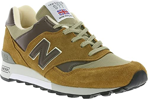 Transparentemente Morgue dígito  New Balance 577 Made in the UK 'English Tender Pack' Men's genuine sneaker  brown M577BDB, Braun, 7, 5: Amazon.co.uk: Shoes & Bags