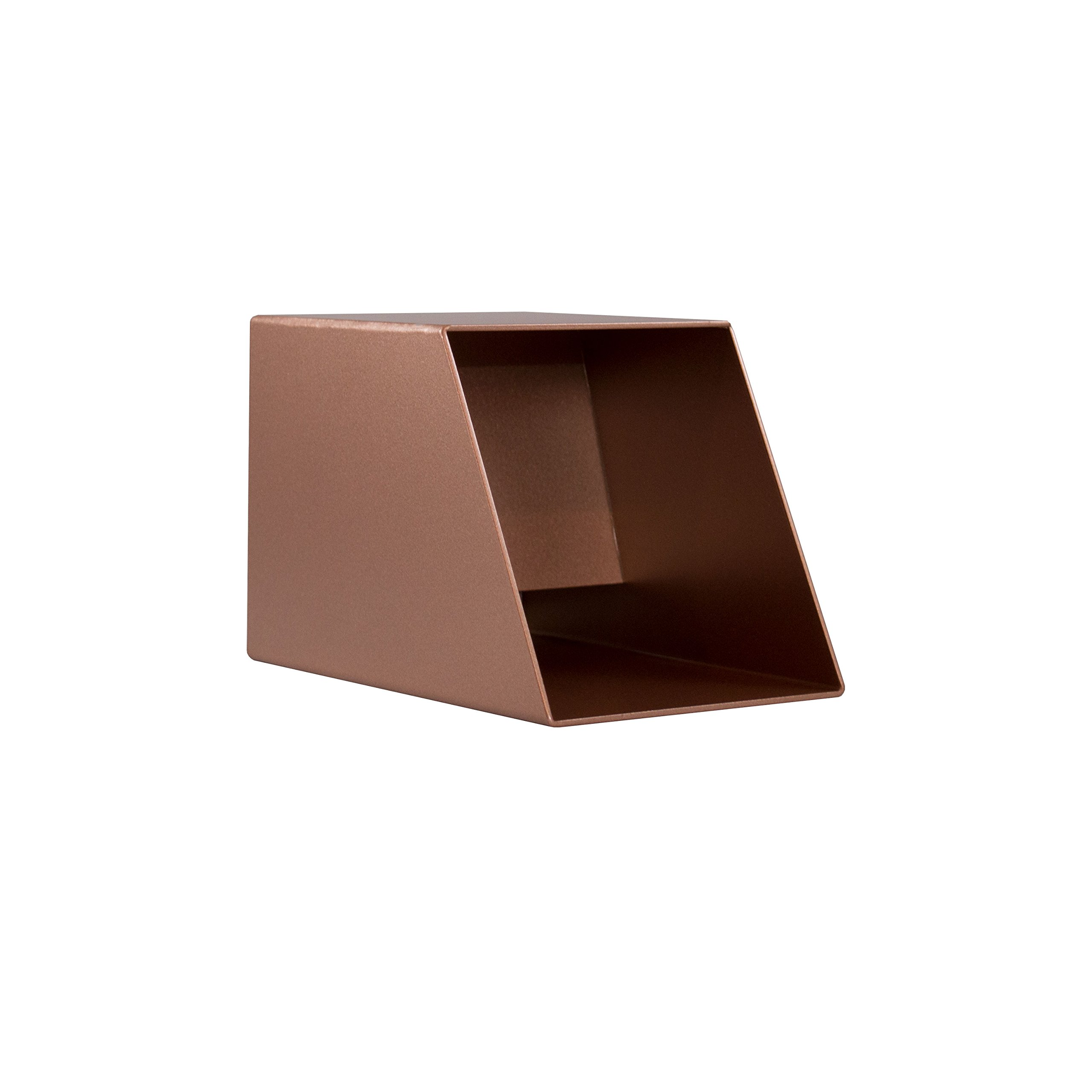 Cecetto 4'' Sqaure Water Fountain Spout Scupper for Pool Pond Fountain Water Feature - Copper by Majestic Water Spouts