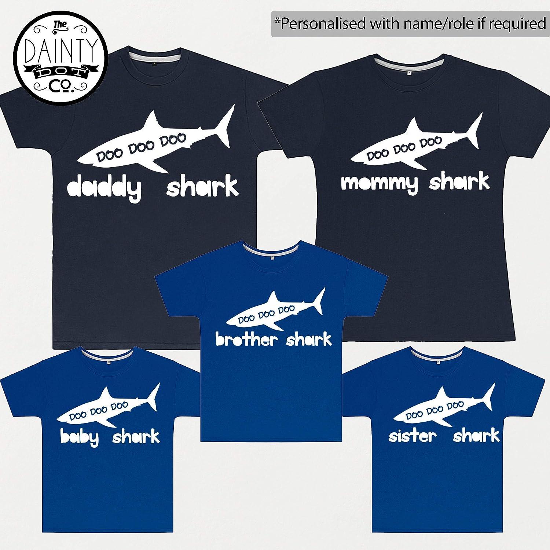 Baby Shark Doo Doo Kids T-shirts Daddy Mommy Grandpa Shark Family Matching Royal