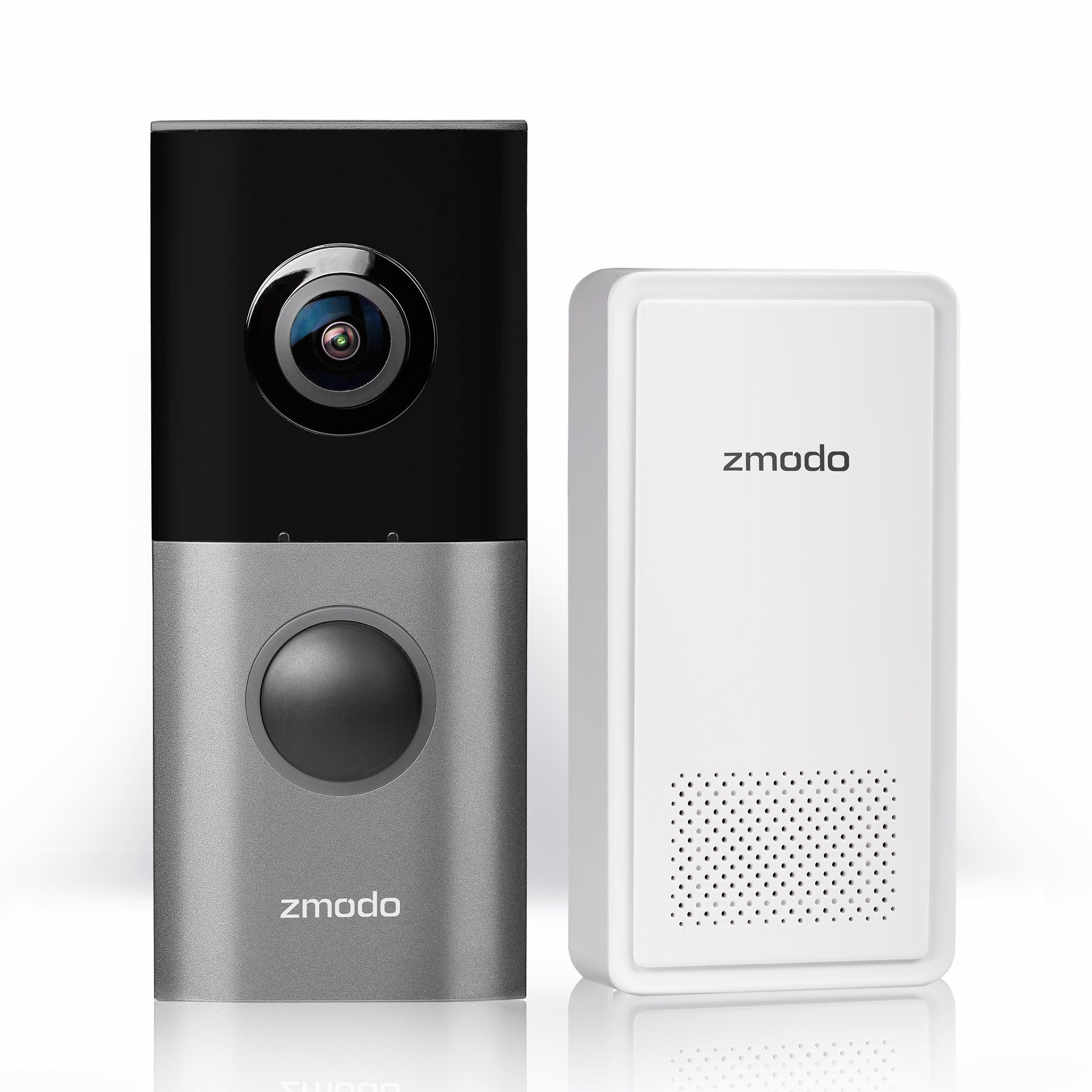 Zmodo Greet Pro Smart Video Doorbell with WiFi Extender, Full HD 180 Degree Wide Angle Camera, Dual Band 5GHz/2.4GHz Capability