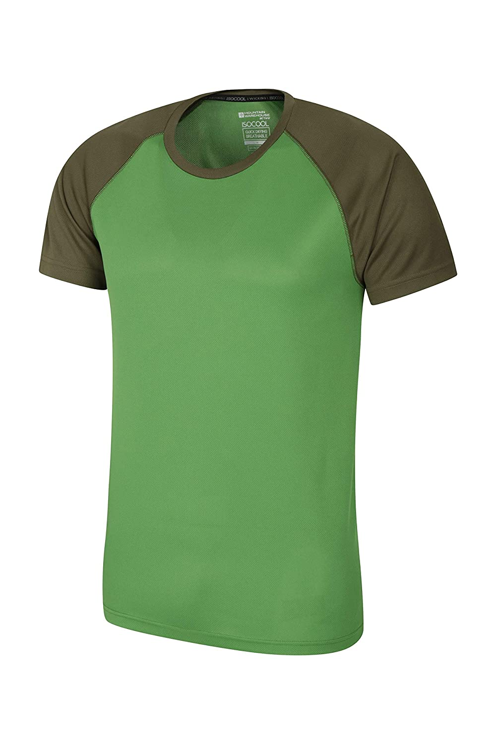 5c3d29760 Mountain Warehouse Endurance Mens T-Shirt – Breathable Summer Tee, UPF50  Protection, Lightweight Shirt, Comfortable & Quick Drying Top - for Gym, ...