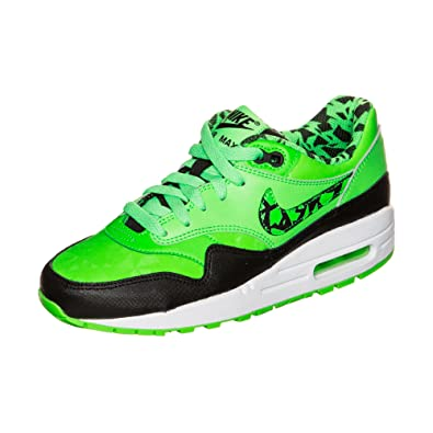 detailed look 9dfb7 a7a4b Nike Shoes - Air Max 1 Fb (gs) Strike Green Black White 38.5  Amazon.co.uk   Shoes   Bags
